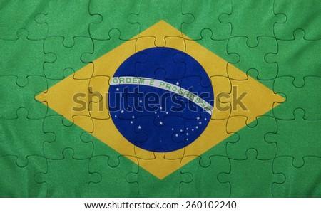 Brazil Flag - stock photo