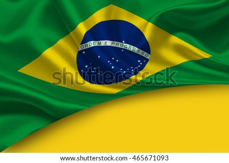 Brazil flag abstract background. Copy space.