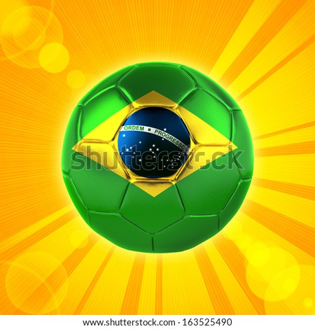 brazil flag soccer, rays yellow,background