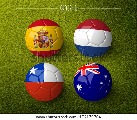 Brazil 2014, group B. (org. size: 3000x2500px) - stock photo