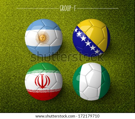 Brazil 2014, group F. (org. size: 3000x2500px) - stock photo