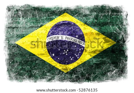 Brazil grunge flag - stock photo
