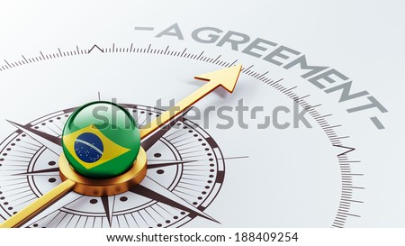 Brazil High Resolution Agreement Concept - stock photo
