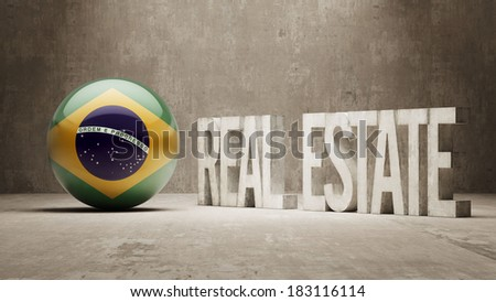Brazil High Resolution Real Estate Concept - stock photo