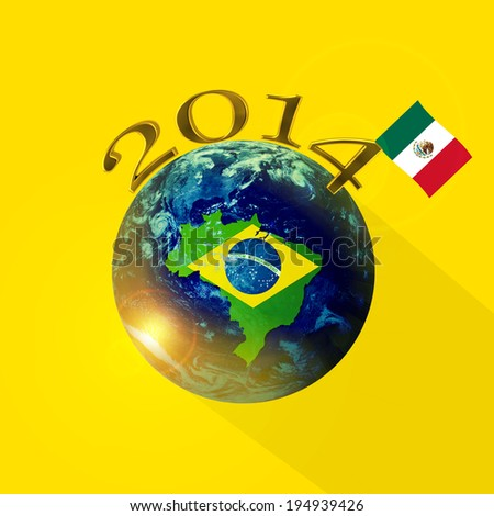 Brazil map mexico flag world elements stock illustration 194939426 brazil map mexico flag world of elements of this image furnished by nasa gumiabroncs Choice Image