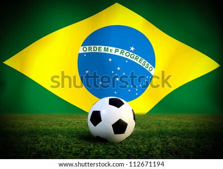 Brazil soccer ball - stock photo