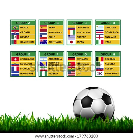 Brazil 2014 , Soccer ( Football ) Tournament. - stock photo