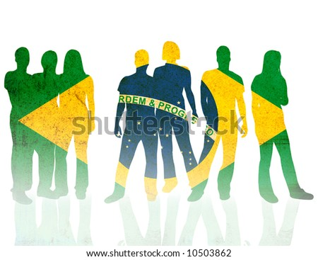 brazil - textures style of people silhouettes