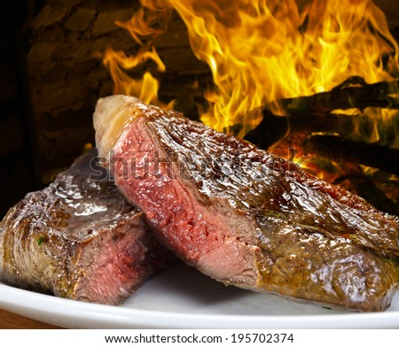 Brazilian BBQ, picanha. - stock photo