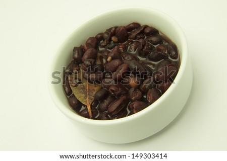 Brazilian blacks beans - stock photo