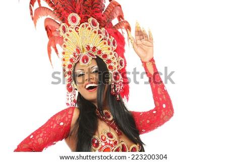 brazilian dancer - stock photo