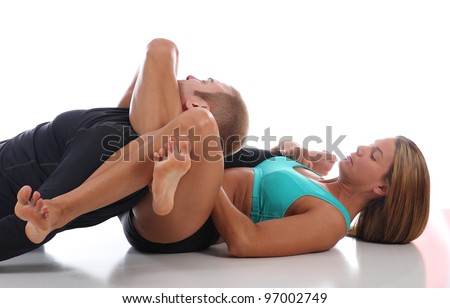 Brazilian Jiu-Jitsu for Women - stock photo