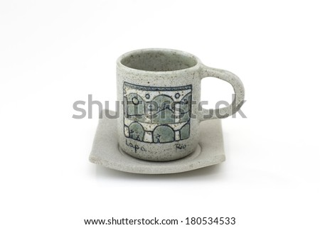 Brazilian Lapa cup on white background.