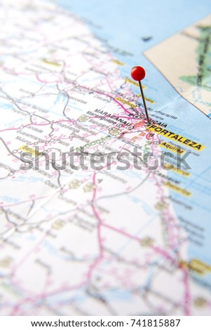 Fortaleza Map Stock Images RoyaltyFree Images Vectors Shutterstock