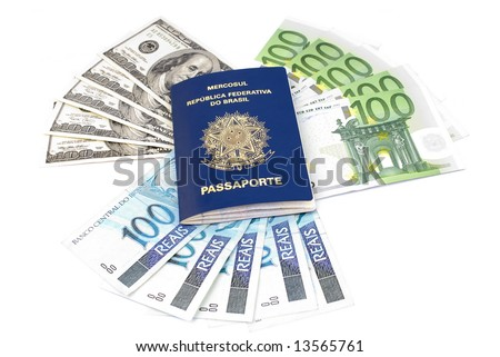 Brazilian Passport and Hundreds of Euro, Dollar and Real .