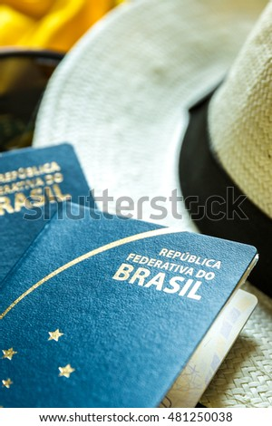 Brazilian Passport and items for some trip
