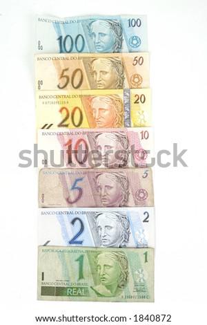 "Brazilian ""Real"" money collection - stock photo"