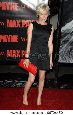 Brea Grant  at the Los Angeles Premiere of 'Max Payne'. Grauman's Chinese Theatre, Hollywood, CA. 10-13-08