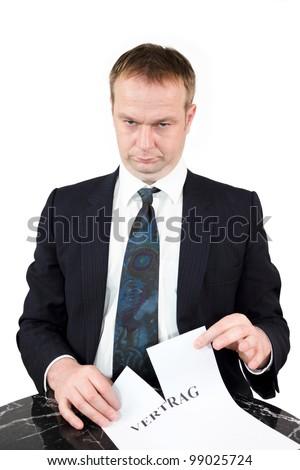 breach of Contract - stock photo