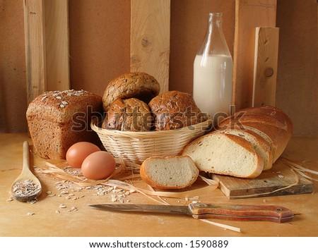 bread - stock photo