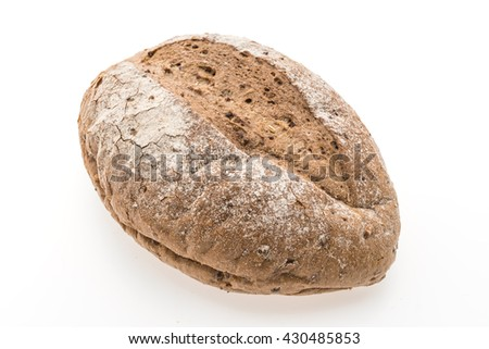 Bread and bakery isolated on white background