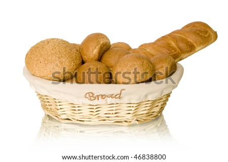 bread and buns in the basket