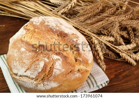 Bread and Wheat Ears - stock photo