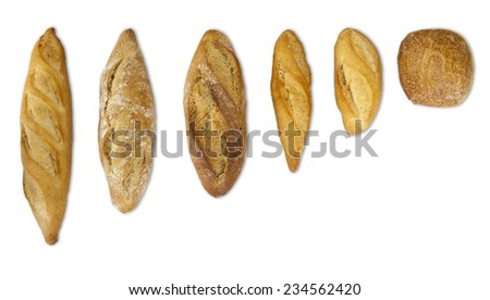 bread baked in a traditional oven and sliced bread