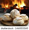 bread baked in the wood oven - stock photo