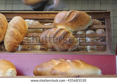 bread, baker - stock photo