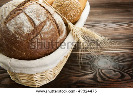 Bread Border - stock photo