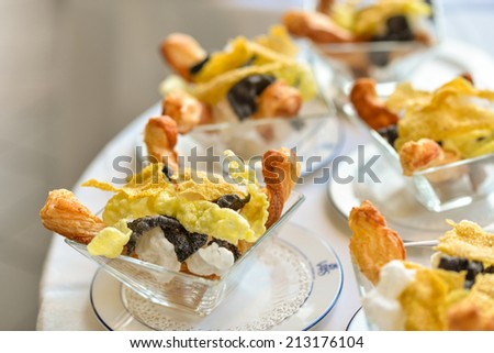bread, bread sticks for appetizer - stock photo