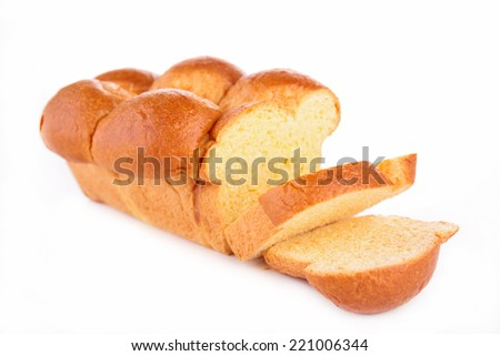 bread, brioche - stock photo