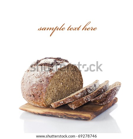 Bread composition with sample text - stock photo