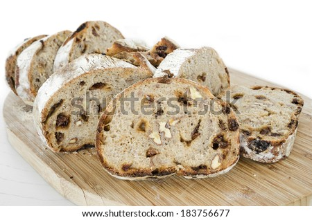 Bread. Fresh rye bread with nuts and dried fruits