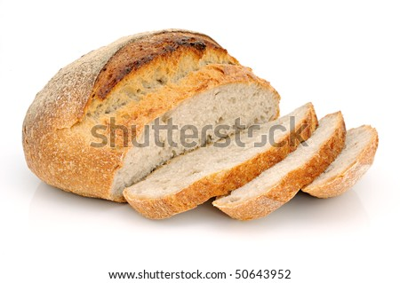 Bread from rye and wheat flour of a rough grinding - stock photo