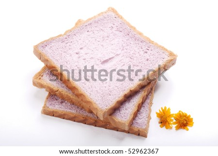 Bread from the white background, many cakes of the picture in my home page