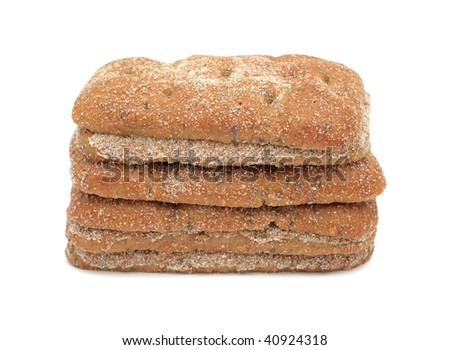 Bread full sliced, isolated on a white background