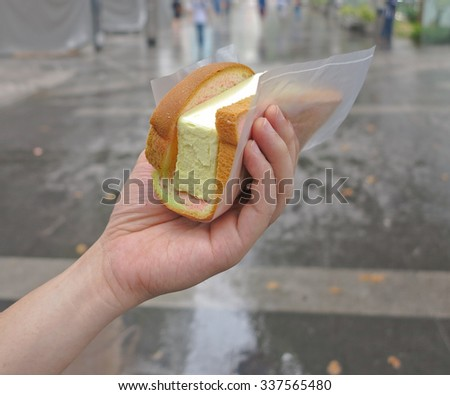 bread Ice Cream  Sandwich on  hand at singapore
