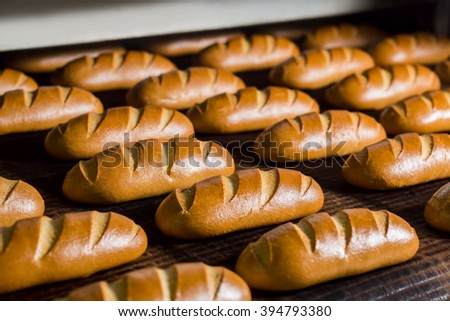 Bread In The Furnace Baking Buns Confectionery Plant For The Production Of Bread