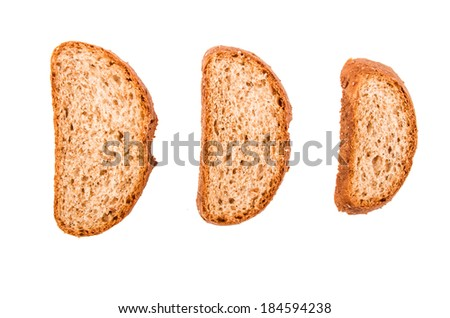 bread isolated on a white background - stock photo