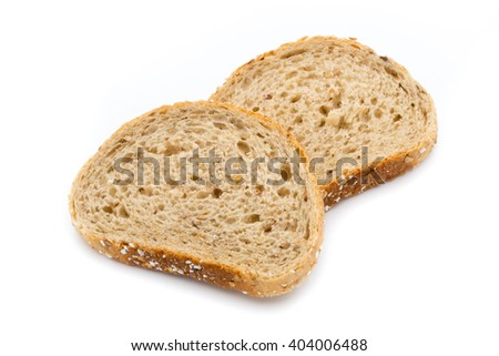 Bread isolated on the white background. - stock photo