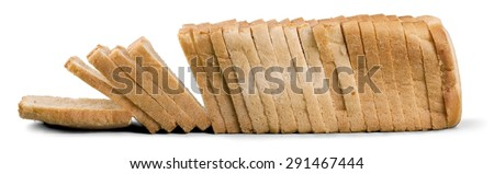 Bread, Loaf of Bread, White. - stock photo