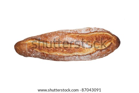 Bread loaf on a white background