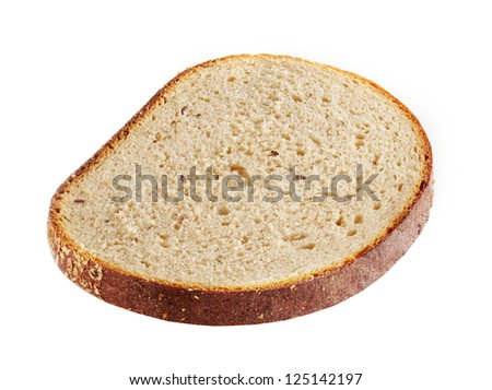 bread loaf on white background