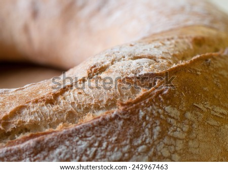 Bread macro detail in a shot with natural light