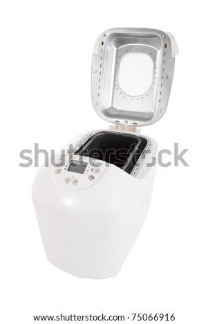 Bread maker machine isolated on a white background - stock photo