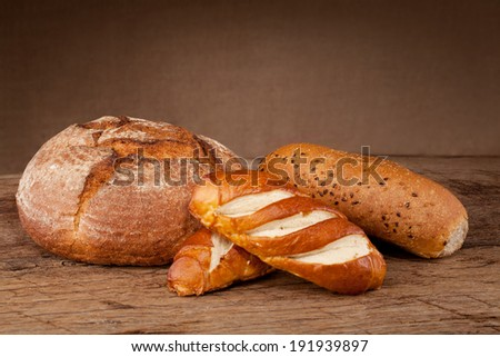 Bread on a table