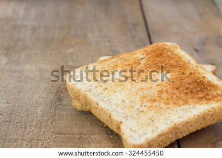 bread, on old wooden table