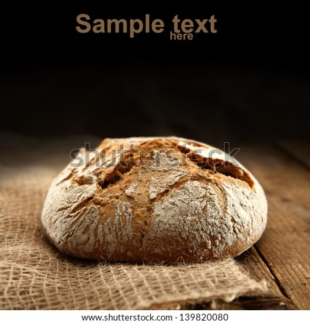 bread on sack - stock photo